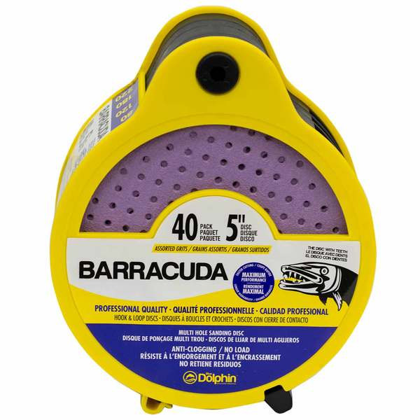 "Barracuda 5"" Pro Quality Sanding Discs, Assorted Grit, 40-Pack"
