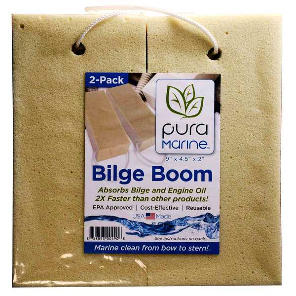 Bilge Boom Oil Absorbant Sponge, 2-Pack