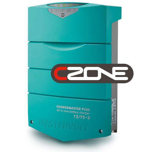 ChargeMaster Plus CZone Battery Charger, 12V, 75 Amp, 3 Banks