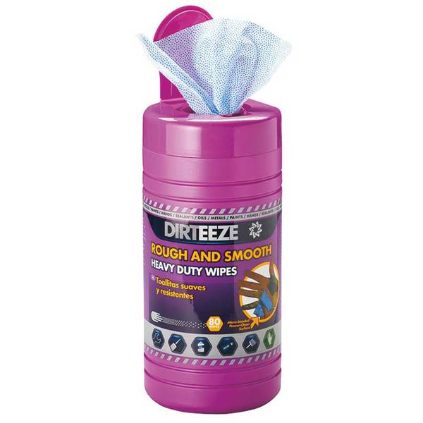 Dirteeze Heavy Duty Wipes, 80 ct. Tub