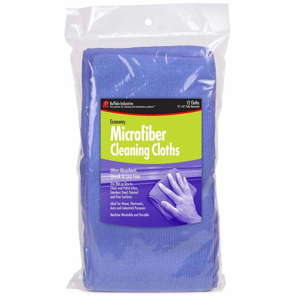 "12"" x 16"" Microfiber Cleaning Cloths, 12-Pack"