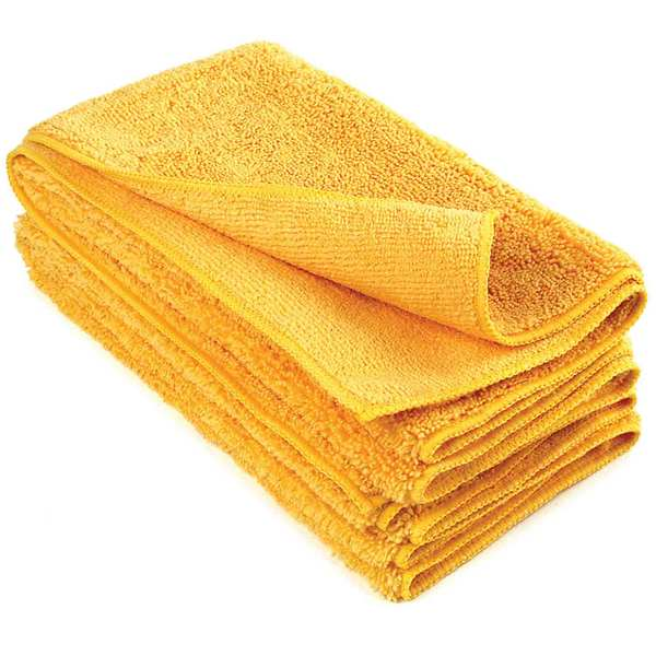 "20"" x 20"" Microfiber Detailing Towels, Orange, 15-Pack"