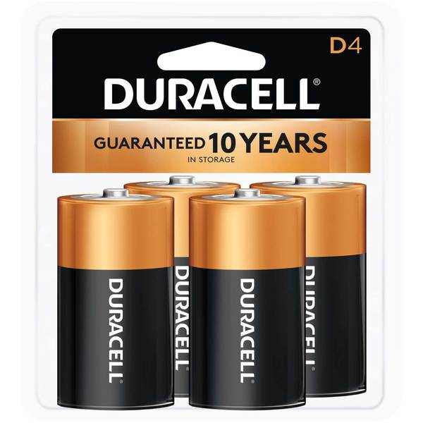 "Coppertop ""D"" Batteries, 4-Pack"