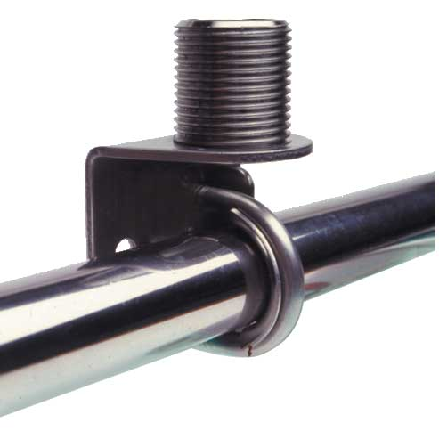 "Stainless Steel Rail Mount for 7/8"", 1"" Round or Square"