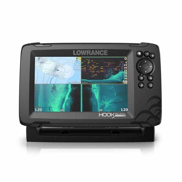HOOK Reveal 7 Triple Fishfinder/Chartplotter Combo with US Inland Charts
