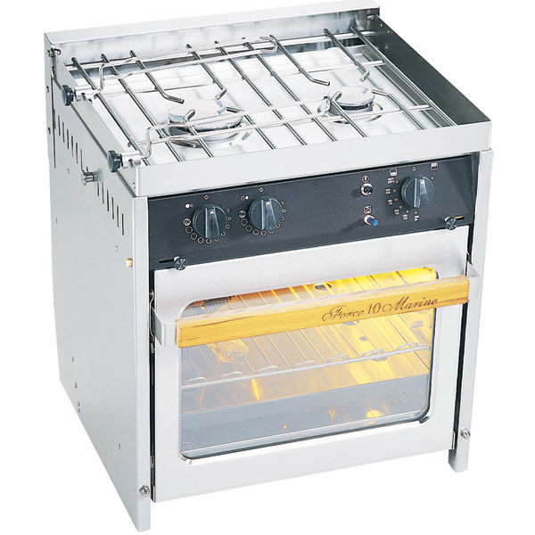 Force 10 Two-Burner Gimbaled Propane Range, 21H x 18-1/8W x 16-1/2D Overall, 0.49cu.ft. Oven