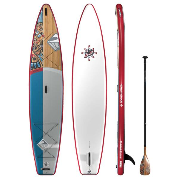 "12'6"" SHUBU Raven Inflatable Stand-Up Paddleboard Package"