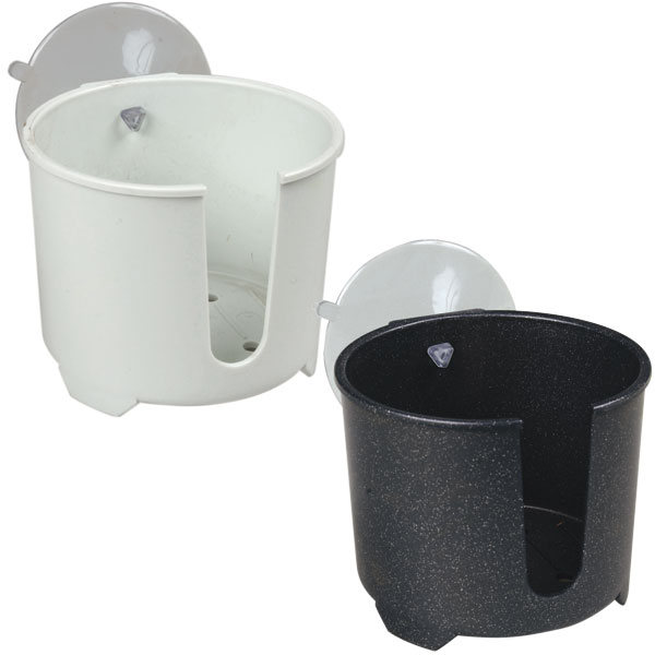 Marine  Drink Holder Boat Cozy White Plastic Suction Cup Mount Drink Holder