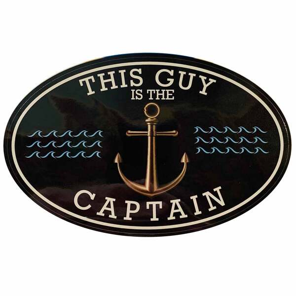 This Guy Captain Removable/Restickable Boat Sticker