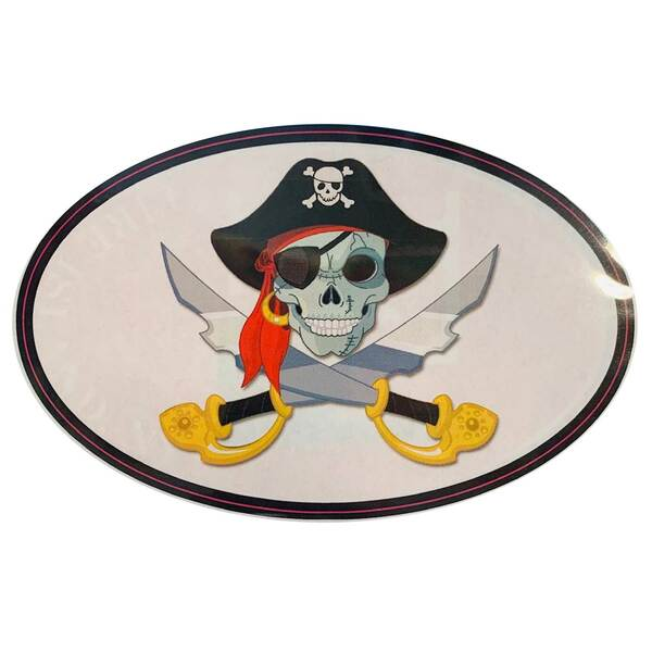 Pirate Removable/Restickable Boat Sticker