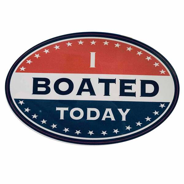 I Boated Today Removable/Restickable Boat Sticker