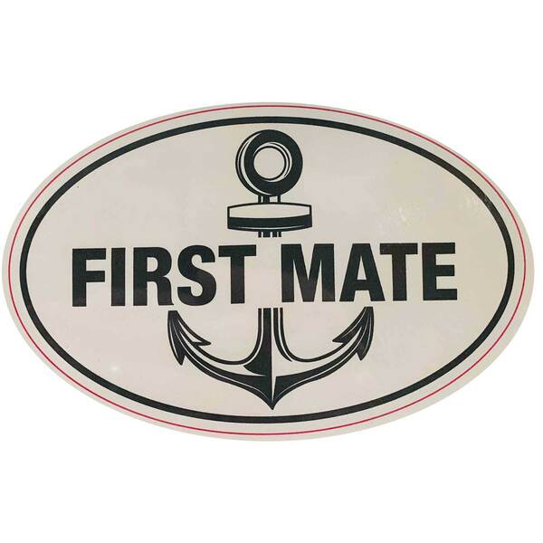 First Mate Removable/Restickable Boat Sticker