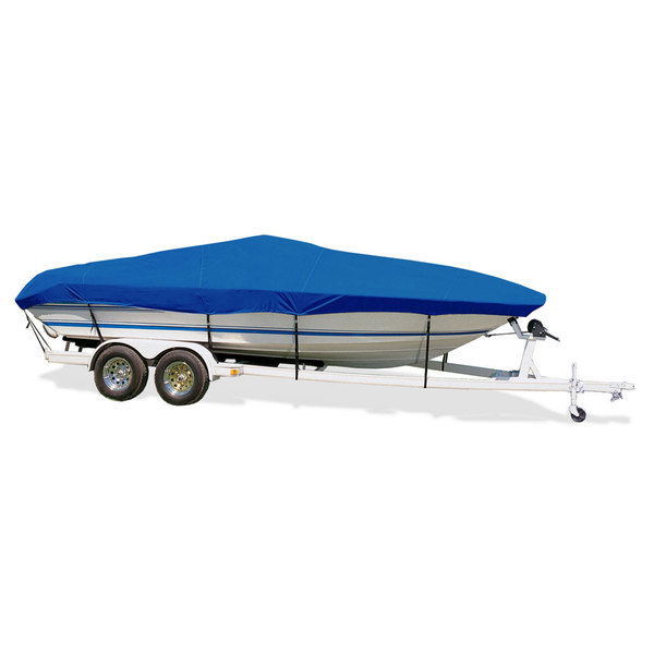"Ski Boat Cover, I/O, Pacific Blue, Hot Shot, 17'5""-18'4"", 84"" Beam"