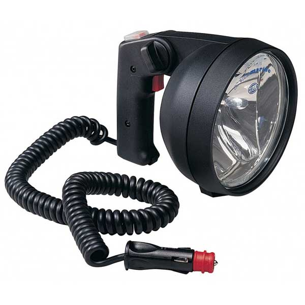 12 Volt Black Light For Fishing: HELLA MARINE Twin Beam Hand Held Search Light Black