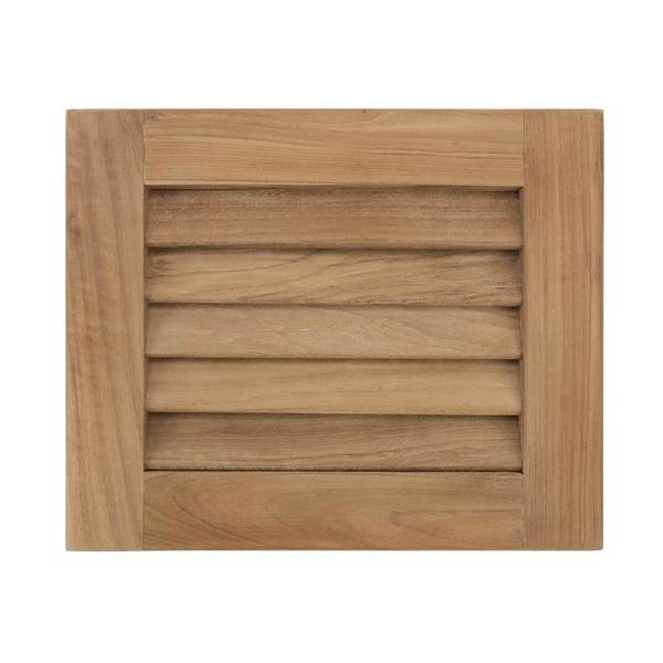"Louvered Teak Insert, 3/4"" x 9 1/8"" x 7 1/2"""