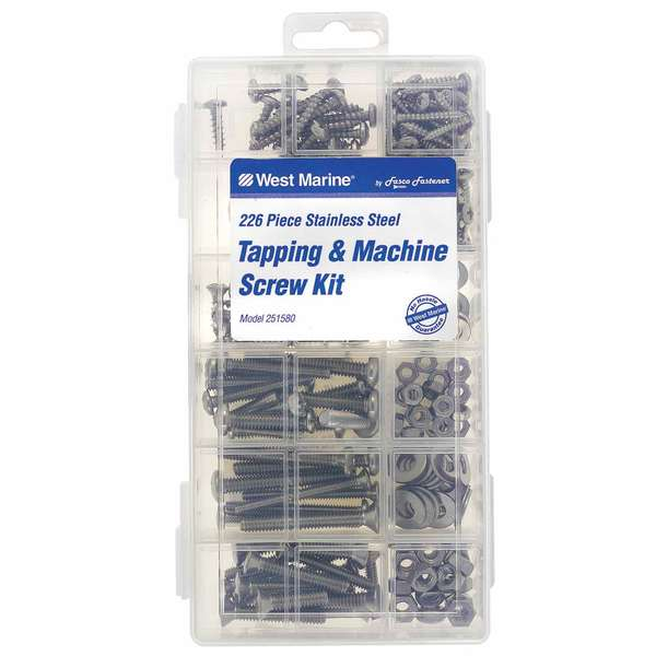 Large Tapping and Machine Screw Kit, 226-Pack