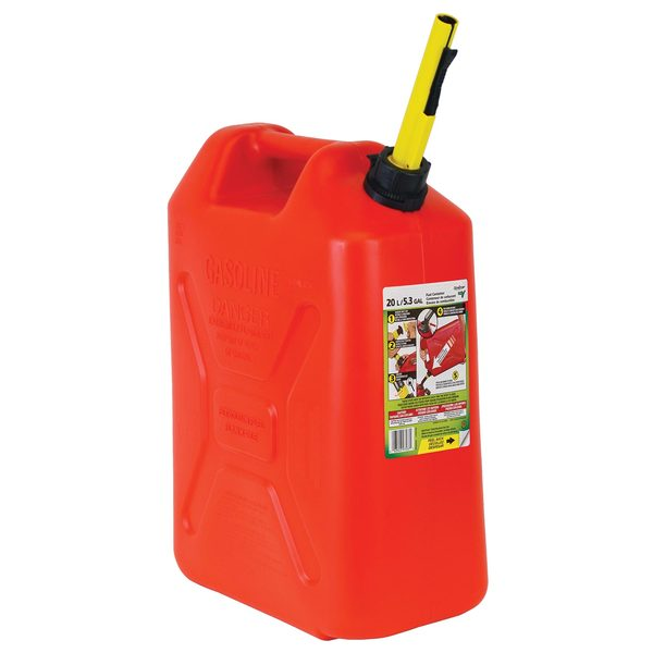 ECO 5 Gallon Military Style Gas Can, Red