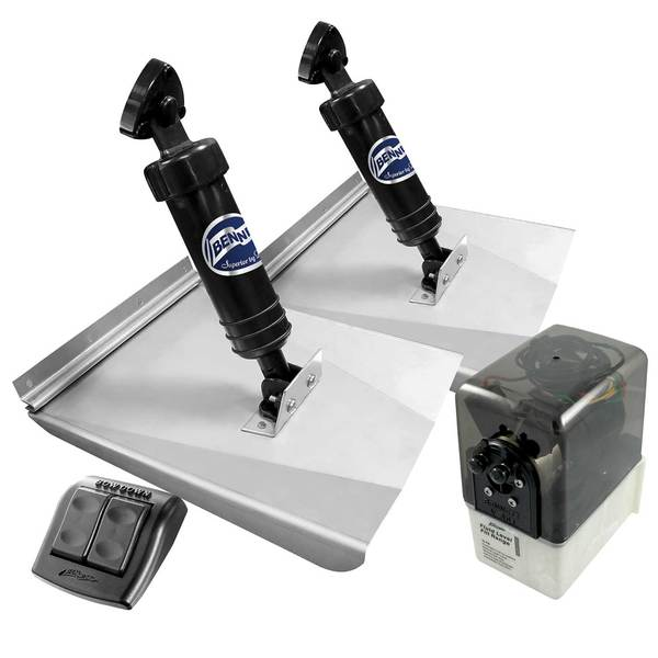 "M-120 Sport Trim Tab System with Rocker Control, 10"" x 12"""