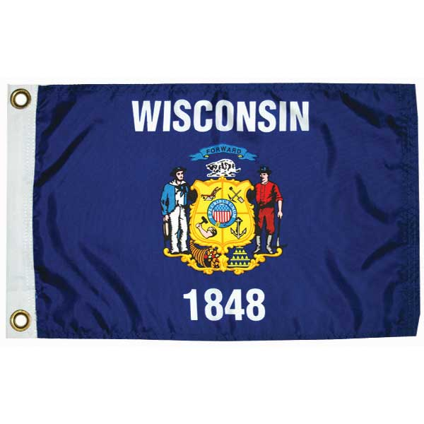 "Wisconsin State Flag, 12"" x 18"""