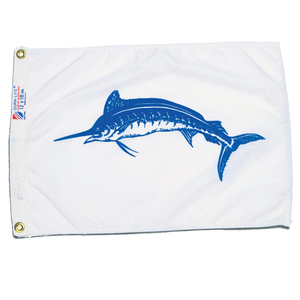 Blue Marlin Flag, 12 x 18""