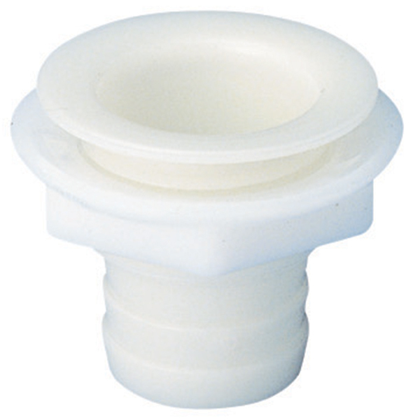 "1 1/4"" Straight Plastic Drain Fitting, Fits 1"" Hose"