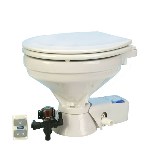 Quiet-Flush Electric Toilets