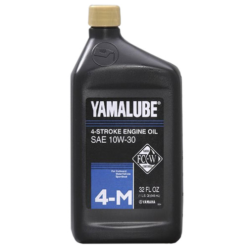 Yamalube 4M Outboard 4-Cycle SAE 10W-30 Engine Oil, 1 Quart