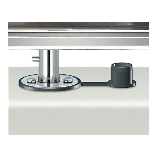 Single Locking Flush Deck Socket Mount for Magma Rectangular Grill