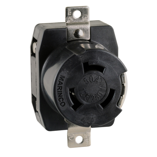 Marinco Locking Receptacle  50a 125  250v