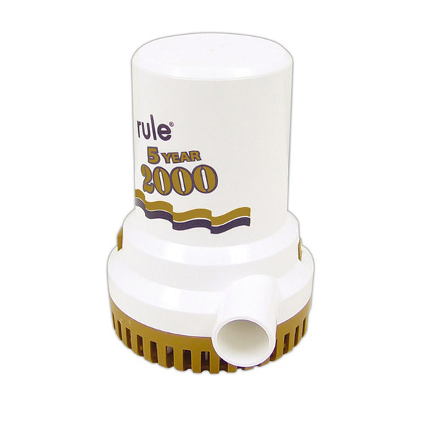 2000 GPH Electric Bilge Pump, Gold Series
