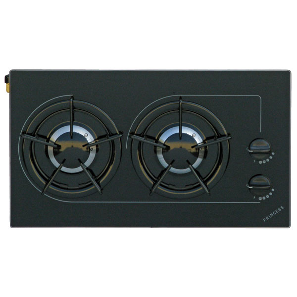Princess Two Burner Drop In Stove Top With Grate