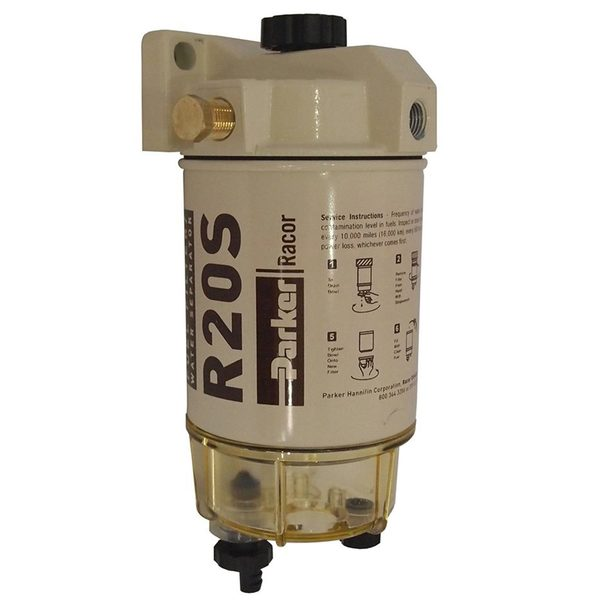 230R2 Spin-On Diesel Fuel Filter/Water Separator, 30 GPH