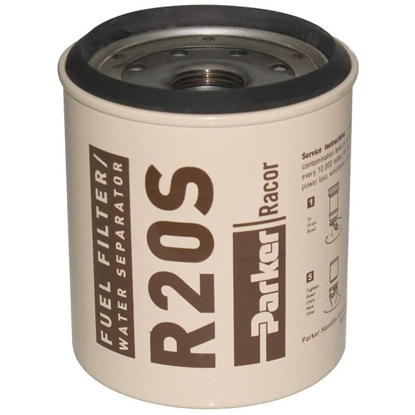 R20S Spin-On Fuel Filter/Water Separator For Series 230R, 2 Micron