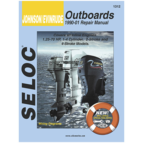Repair Manual - Johnson Evinrude Outboards, 1990-2001, All inline engines, 1.25-70HP