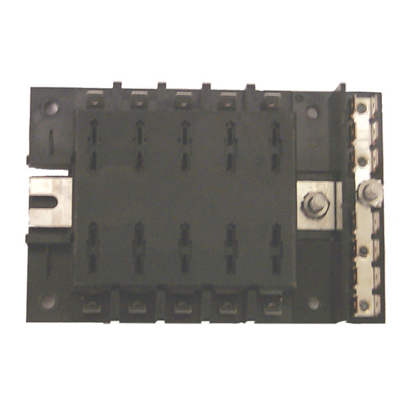 ATO/ATC Style Fuse Block, 10 Gang with Ground