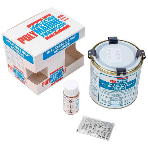 2-Part PVC Inflatable Boat Adhesive, 250mL & Bottle of Hardener
