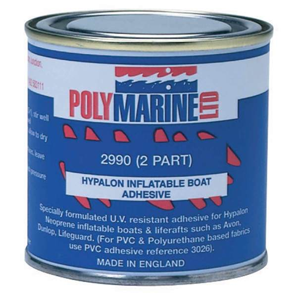 2-Part Hypalon Inflatable Boat Adhesive, 250mL & Bottle of Hardener