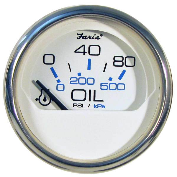 FARIA INSTRUMENTS Chesapeake White SS Series Oil Pressure Gauge, 80 on wire harness connectors, wire harness assembly, wire harness repair, wire harness fasteners, wire harness testing, wire harness tubing,