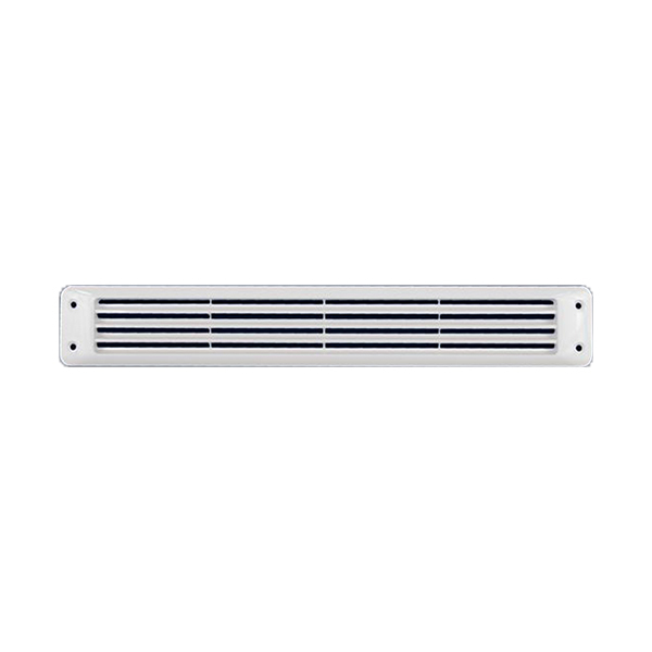 "Flush Louvered Vent, White, 2-3/4"" x 17-9/6"" x 1/4"""