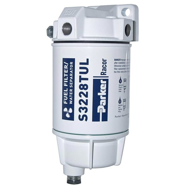 320R-RAC-02 Spin-On Fuel Filter/Water Separator with Metal Bowl