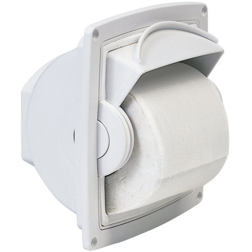 OCEANAIR Recess-Mounted Dry Roll Covered Tissue Holder | West Marine