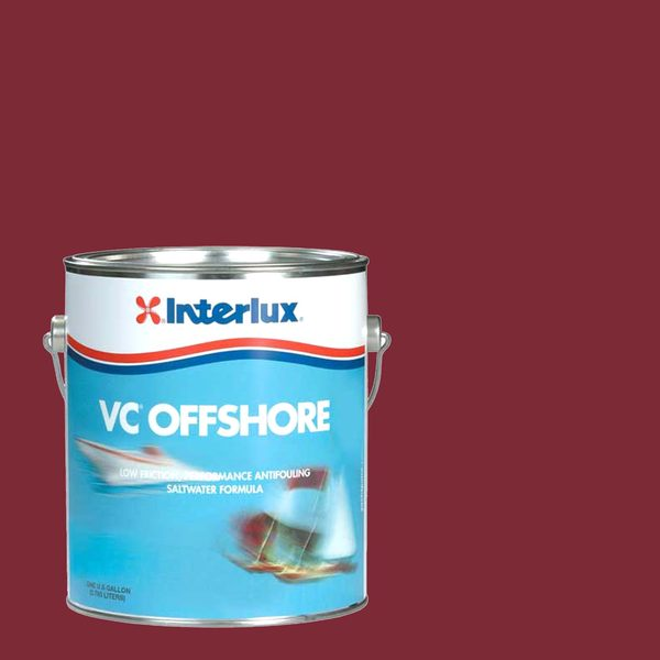 Interlux VC-Offshore Hard-Vinyl Antifouling Bottom Paint, Red, Gallon