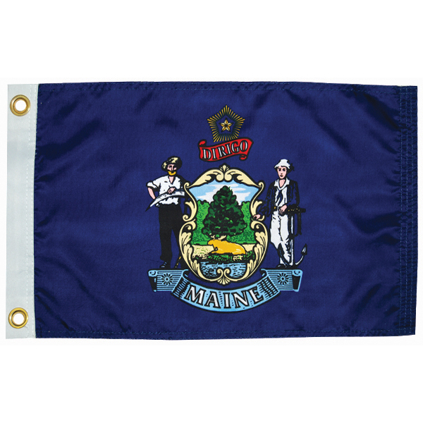 "Maine State Flag, 12"" x 18"""