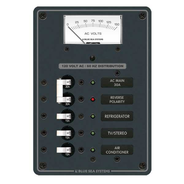 BLUE SEA SYSTEMS AC Electrical Distribution Panel, AC Main + 3 ...