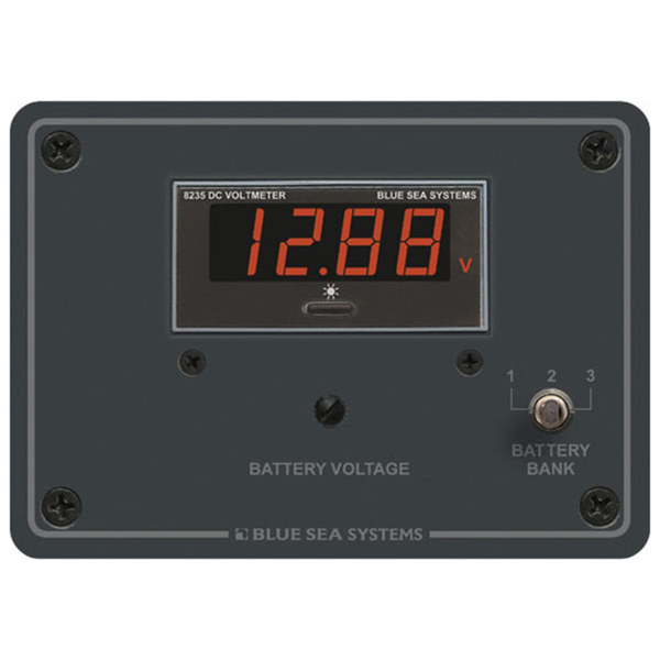 DC Digital Voltmeter Panel, 7 to 60V DC