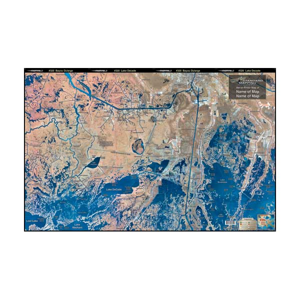 Current Map Of Louisiana.Standard Mapping Service Bayou Dularge Louisiana Laminated Map