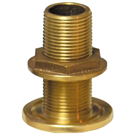 "1 1/4"" Bronze Thru-Hull Fitting with Nut"
