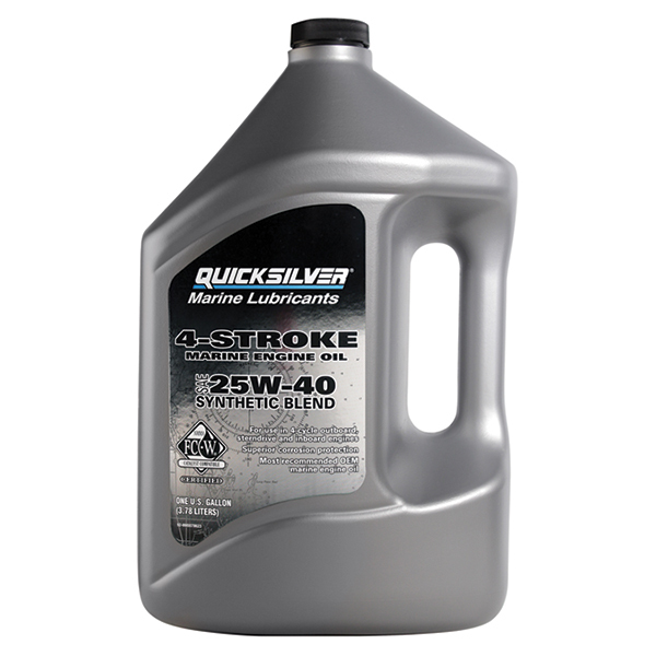 25W-40 Synthetic Blend 4-Stroke Outboard Oil, Gallon