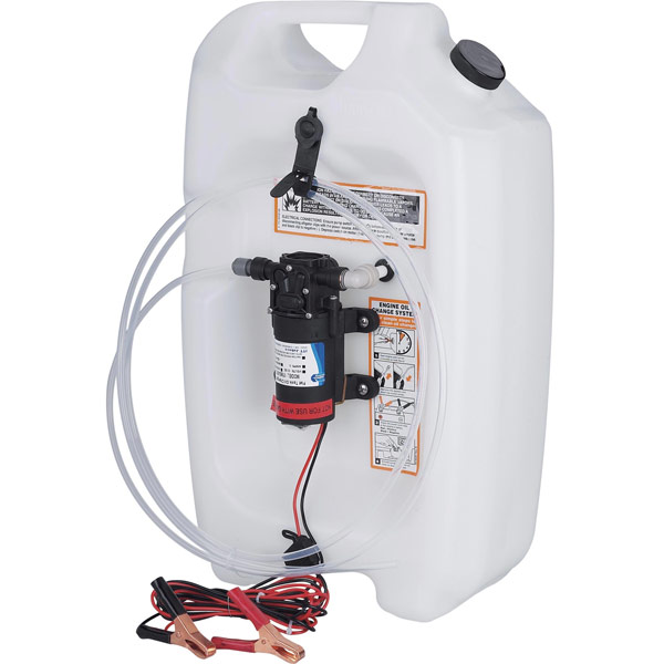 Jabsco flat tank oil changer system 3 1 2 gallons west for Outboard motor oil change pump
