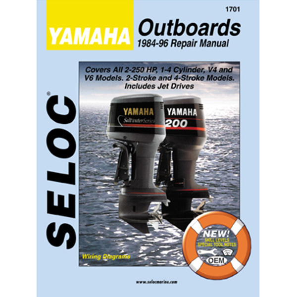 Repair Manual - Yamaha Outboard 1984-1996, 1-4 Cyl., V4, V6, 2-250 HP